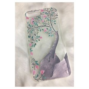 Accessories - Elephant Blowing Flowers Clear iPhone Case